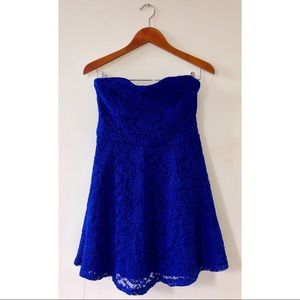 NWT ASOS Strapless Lace Mini Dress